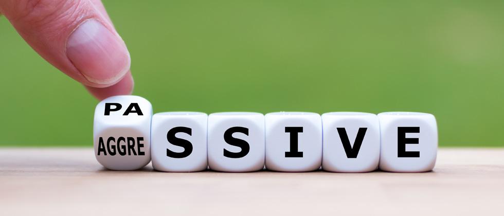 Blocks spelling out passive aggressive