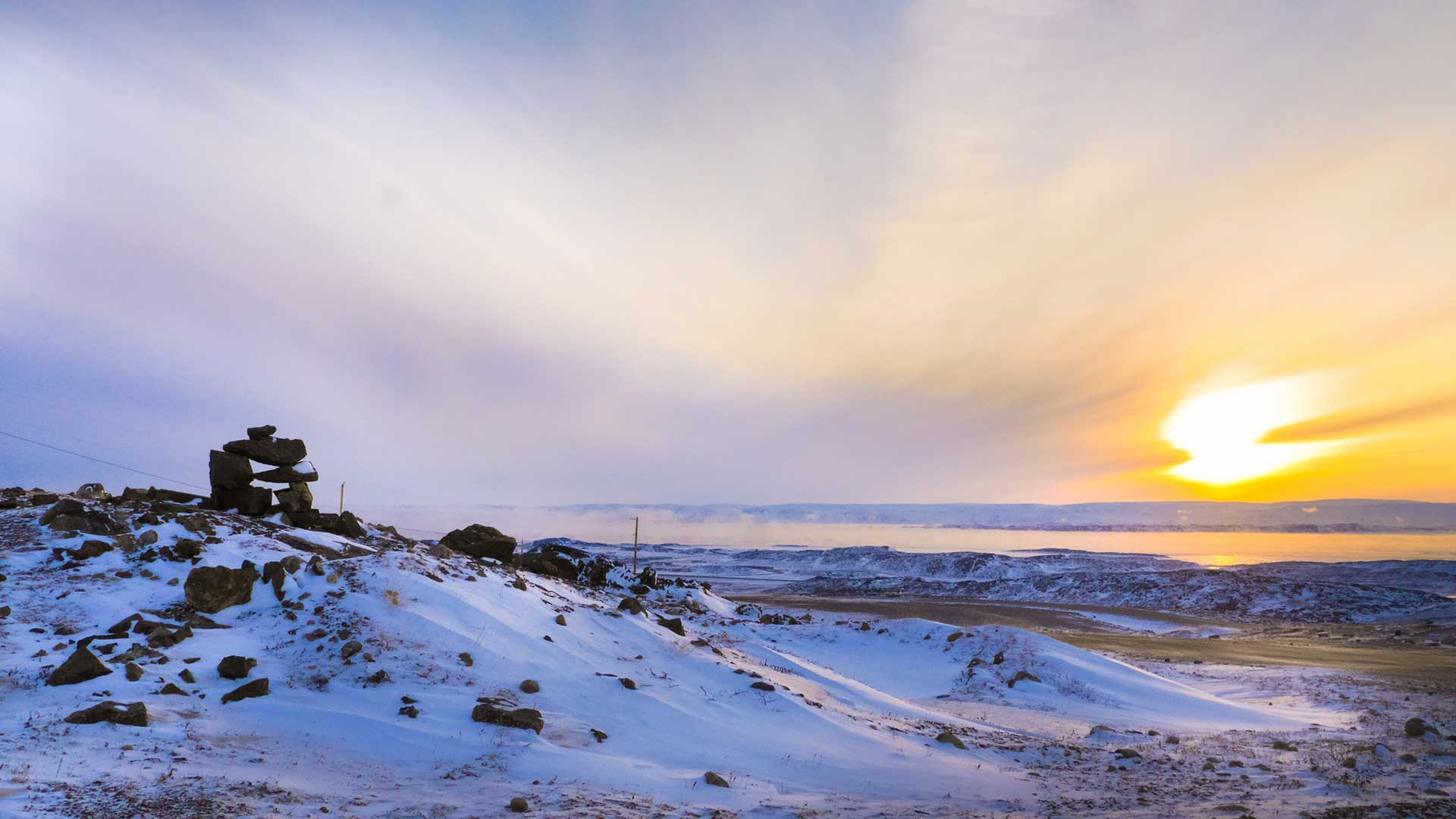 Panorama to illustrate dating in iqaluit
