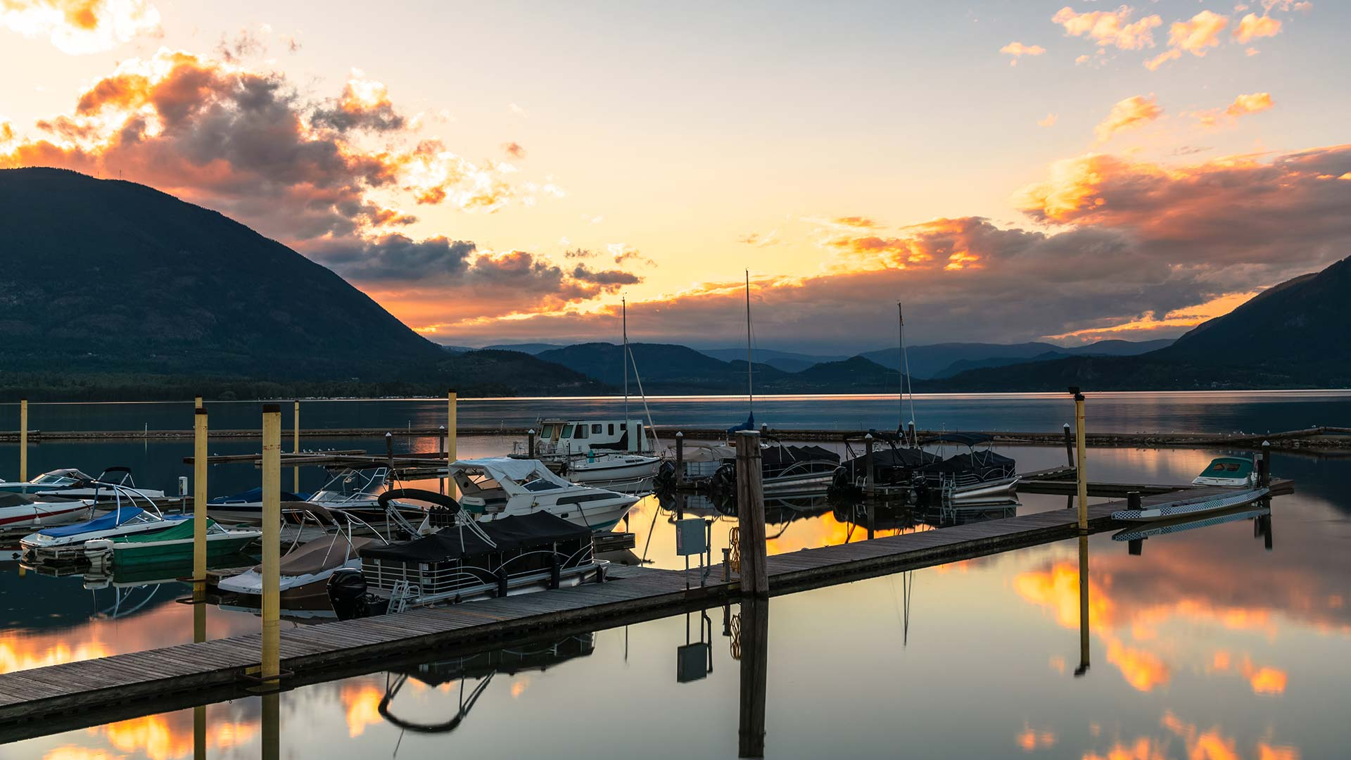 Panorama to illustrate dating in salmon arm